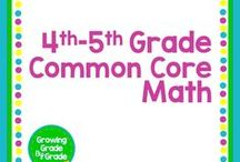 4th - 5th Grade Common Core Math / Grades 4-5 materials, activities, worksheets, projects, printables, games, aligned to Common Core Math standards.