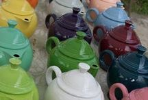 Fiestaware and other vintage ceramics / Fiesta, Harlequin, Kitchen Craft, Vernon Kilns, Early California, Franciscan, Gladding McBean, Tiempo, El Patio, Bauer, Ringware