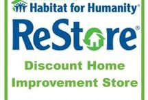 Treasure Hunt: Habitat's ReStores in Southern California / Habitat for Humanity has a fabulous secret... Their ReStores!  These are discount home improvement outlets.  No, they don't 'restore' items but they do sell new and lightly used donated goods at outlet prices.  Best of all, the proceeds stay local.  Anyone can shop there and your purchases help build homes for low-income, working families.