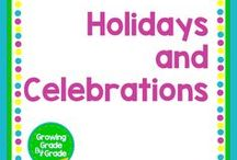 Holidays and Celebrations / New Year's, Valentine's Day, Saint Patrick's Day, Pi Day, Easter, 4th of July, Independence Day, Halloween, Thanksgiving, Christmas, and other holidays are here. Join me as I search and share fun and easy ideas to recognize holidays and celebrations in the classroom or anywhere!