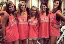 Phi Mu T-shirt Ideas / by Katie Keane