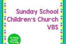 Sunday School/Children's Church/Vacation Bible School / This board shares materials for Sunday School classes, Children's Church meetings, and Vacation Bible School.