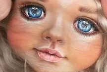 Рисуем глаза и губы,нос / глаза и губы