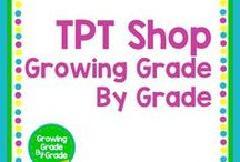 TPT Shop: Growing Grade By Grade / Find all of my TPT curriculum resources here. I create products that support elementary and middle school teachers and students. My content resources are aligned to the Common Core and NC State Standards. Other resources are fun and inspirational! We're all in this together!
