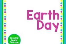 Earth Day / Elementary and middle grades resources, lessons, projects, worksheets, and printables for Earth Day.