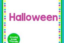 Halloween / Elementary and middle grades resources, lessons, projects, worksheets, and printables for Halloween.
