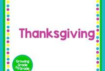 Thanksgiving / Elementary and middle grades resources, lessons, projects, worksheets, and printables for Thanksgiving.