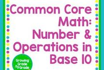 Common Core Math NBT: Number & Operations in Base 10 / Elementary and middle grades resources, lessons, projects, worksheets, and printables for Common Core Math: Number & Operations in Base 10.