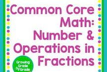 Common Core Math NF: Number & Operations in Fractions / Elementary and middle grades resources, lessons, projects, worksheets, and printables for Common Core Math: Number & Operations in Fractions.