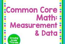 Common Core Math: Measurement & Data / Elementary and middle grades resources, lessons, projects, worksheets, and printables for Common Core Math: Measurement & Data.