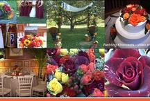 Wedding Khoncepts - Fall Theme / Weddings taking place in the Fall and/or weddings using the colors of Fall as a theme. Oranges, browns, golds and greens. Your wedding colors can also be used as fabulous home decor.