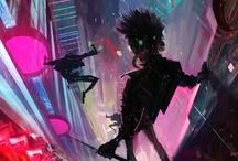 "Cyberpunk / Related boards: ""Art"" & ""Street Art."" / by Anastasia Garcia"