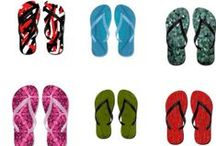 Colorful Flip Flops by Khoncepts / Conversational wearable art designs featured on flip flops! Send me your two favorite colors or your wedding colors and let's create something unique and magical. In most cases, they will come with matching T-Shirts. Also enjoy flip flop jokes and the history of flip flops.