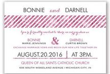 You're Invited! / Wedding save-the-dates, invitations, programs, and other stationery