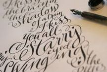 Calligraphy Obsessions / by Melanie Miller