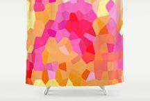 Home Decor - Pinks and Yellows / Bold, delicate and surprising color combinations of pinks and yellows.