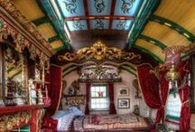 """Summer Project """"Gypsy Caravan"""" restoration / Temporary quarters until residence built.   / by Chrissy P ..."""
