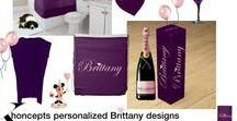 Personalized for Brittany / Brittany - pink font and purple background. Beautiful gift products for you or that special Brittany in your life. Add text or even a photo for that extra exciting touch.