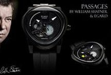 PASSAGES / The Passages Collection - A masterful collaboration between William Shatner and Egard watch company. Marking the passage of time with authentic meteor dust placed on the dial, a modified automatic movement showcasing the open heart movement as well as a day night indicator. Passages spared no expense creating a custom case and hand crafted curved sapphire crystal. Shop today at EgardWatches.com