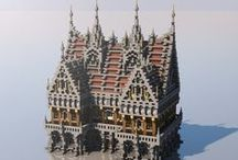 Minecraft inspirations / On this board would be pinned medieval (and somewhat steampunk) Minecraft building that can be a source of inspiration. Note that this board is made for inspirations, so don't expect to only see Minecraft creations.