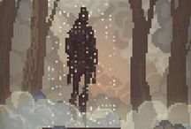 Pixel arts / On this board would be pinned pixel art that aren't too like-drawing alike (and that I LIKE)