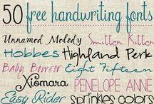 Free Fonts :) / by Sarah LeFan