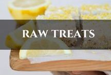 Raw Treats / Made from only raw natural whole food ingredients. Loaded with nutrients the body will love