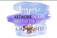INSPIRE: ART in & around HOME... / Beautiful ways to use artwork in your home...