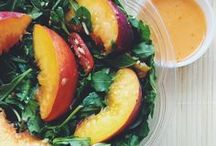 Food Bloggers Customer Craft - Peach Edition / We've asked some of our favorite local food bloggers to share their Customer Craft salads featuring our new Super Seasonal local peaches (available for a limited time during their peak season).