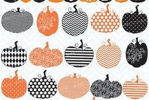 Halloween Clipart, Fonts, Digital Paper / by Happy Teacher