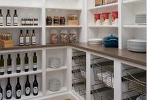 Pantry Design / Butlers Pantry Design and Style. Working Pantry. Pantry Organization.