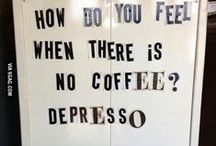 """Coffee / It's all about coffee. """"Inspirational"""" posters, cute photos, images that will make you wanna drink one now.  For coffee lovers like me."""