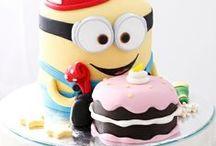 Cake + Macarons / #cake #cakes #cakepop #weddingcake #uniquecakes #birthdaycake #cupcake #allcakes #babycakes #baby #babyshower #macaron #sweettable #sweets
