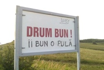 Indicatoare / Funny or just good looking road signs.