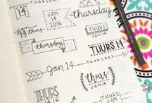 JOURNALING: Ideas & Styles / Exploring all the options! Ideas for creative journaling.