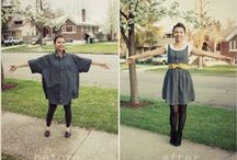 Upcycling... clothes / All kinds of awesome ways to transform your old clothes into something new! #makedoandmend