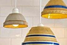 Upcycled... Lampshades / Brilliant re-uses for unexpected things to make some stunning light features