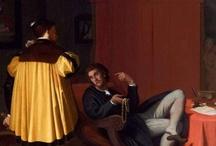 """Jean Auguste Dominique Ingres / Devenez mécènes Ingres """"L'Arétin et l'envoyé de Charles Quint"""" : Merci aux 1500 donateurs qui ont permis au musée des Beaux-Arts de Lyon d'acquérir cette oeuvre."""