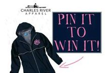 "PIN IT TO WIN IT! / Stay tuned for your chances to win your favorite Charles River Apparel pieces! To enter, make sure you follow Charles River Apparel on Pinterest, and simply re-pin the current ""Pin It to Win It"" pin! Check out the individual pin descriptions for current contest dates and details. Good luck and happy pinning!! (For even more chances to win follow us on Facebook, Instagram, and Twitter!)"