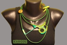 [My Work]  Crochet/ Fiber Jewelry / [Kathamina / Kawool] Handmade by Catarina Pereira