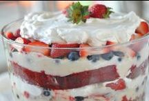 Red,White and Blue Recipes for Memorial Day / Memorial Day Red, White and Blue Recipes for summer fun entertaining