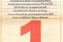 Numéros 1 / Couvertures des numéros 1 de magazines et de journaux présents à l'ESJ.
