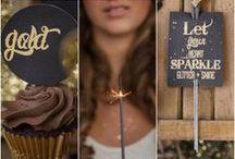 Inspiratie: zwart en goud / Chic en gewaagd, zwart en goud als thema op je bruiloft.