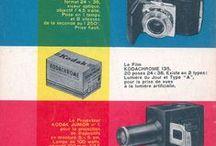 Publicités pour le matériel photographique