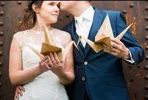 Inspiratie: Origami bruiloft / Het is een flinke klus, maar wat een tof DIY idee! Een origami bruiloft!!