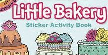 Little Activity Stickers and Sticker Activity Books / Stickers and sticker activity books include a wide variety of subjects: fairies, candies, cats, mermaids, penguins, snowflakes, horses, and hummingbirds — many glitter or glow.