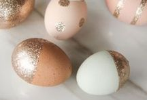 Easter Egg Decorating / Cute, stylish and unique ways to decorate for Easter.