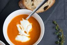 Eat // Soup / Recipes for delicious soup, perfect for getting cozy in the winter.