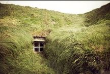 Hideaways / Off-grid, self sustainable & blended with nature