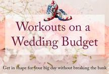 *Wedding Diet & Fitness* / Helpful hints, tips and workouts for staying on track with your fitness while planning your event! #fitness #shapeup #wedding #events #parties #yoga #healthy